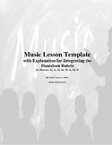 Music Lesson Template  with Explanation for Integrating th
