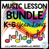 Music Lesson Year Long Bundle: Presentations, Videos, Mp3's  K-6 Materials