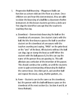 Music Lessons For Active Learners II; Using Playground Balls