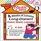 Music Distant Learning k-6 {Home or Music Sub Plans}