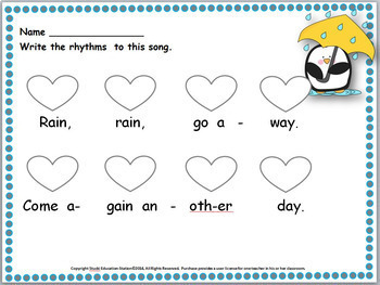 Folk Songs {Bundled #1 Worksheets & Assessments}