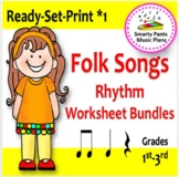 Folk Songs {Bundled #1 Worksheets & Assessments}
