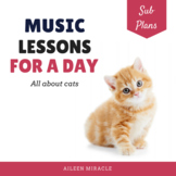 Elementary Music Sub Plans {All About Cats}