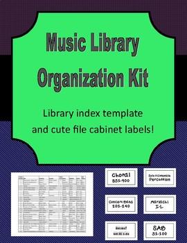 Music Library Organization Kit