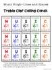 Music Line & Space Bingo TRIPLE BUNDLE {Treble or Bass Clef}