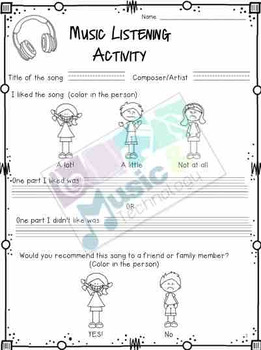 music listening activity worksheet by music and technology tpt. Black Bedroom Furniture Sets. Home Design Ideas