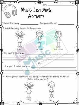 Music Listening Activity Worksheet