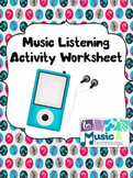 Music Listening Activity Worksheet