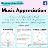 Music Listening / Appreciation Worksheets Set