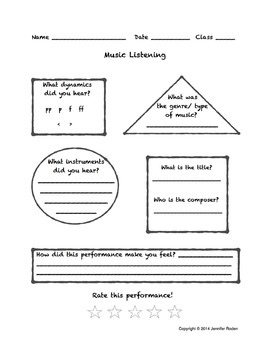 Music Listening Evaluation