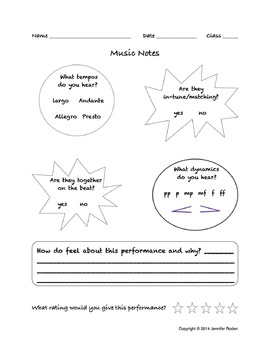 Music Listening Evaluation for Recorded Performances