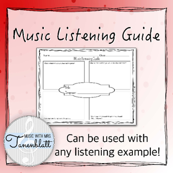 Music Listening Guide