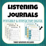 Music Listening Journals- Printable & Digital for Distance Learning