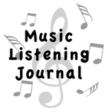 Music Listening Journal - PDF/Editable Bundle