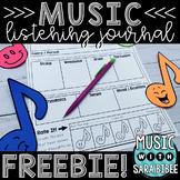 Music Listening Journal {FREEBIE} {Distance Learning}