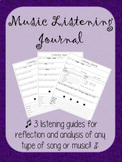 Music Listening Journal/Guide (Analysis - Reflection - SQUILT)