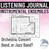 Music Listening Journal (Orchestra vs. Concert Band vs. Ja