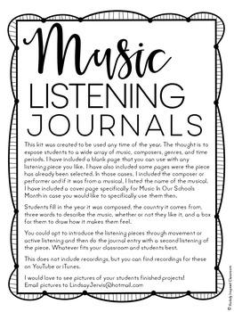 Music Listening Journals