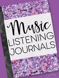 Music Listening Journals - great for Distance Learning