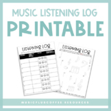 Music Listening Log | Printable