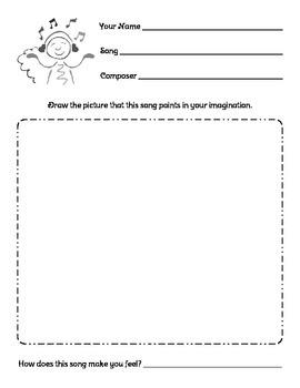 Music Listening Reflection worksheet