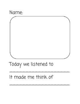 Music Listening Response Sheet