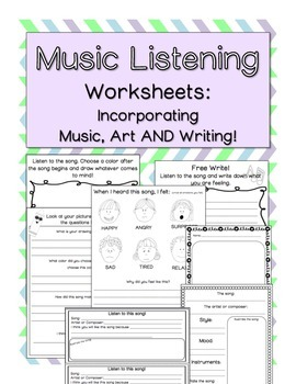 music listening worksheets by countless smart cookies tpt. Black Bedroom Furniture Sets. Home Design Ideas