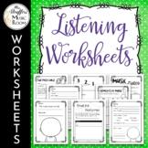 Music Listening Worksheets