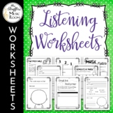 Music Listening Worksheets