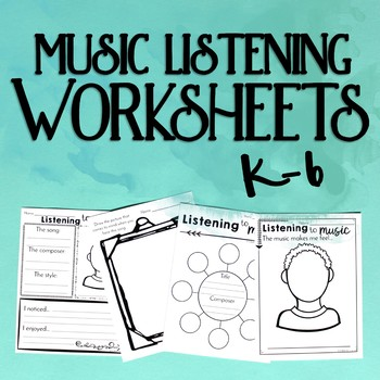music listening worksheets k 6 by cori bloom teachers pay teachers. Black Bedroom Furniture Sets. Home Design Ideas