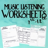 Music Listening Worksheets, Level Two
