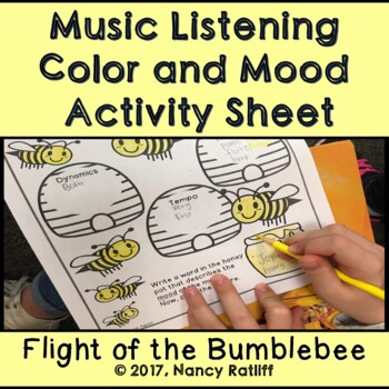 Music Listening and Mood Worksheet/Orchestra/Color/Elementary/Coloring Sheet