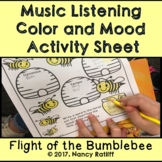 Music Listening Color and Mood Activity Sheet /Orchestra