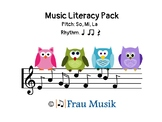 Music Literacy Pack: Kodaly Songs & Games for Reading Musi