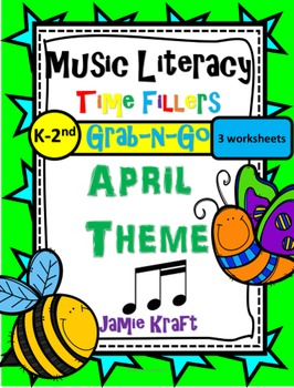 Music Literacy Time Fillers: Grab N Go APRIL Theme