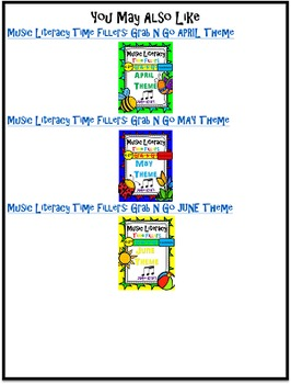 Music Literacy Time Fillers: Grab N Go JULY Theme