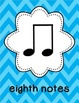 Music Literacy Vocabulary Print Environment: Notes, Rests