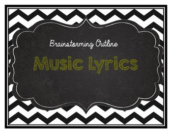 Music Lyric Response to Literature Outline/Brainstorm sheet
