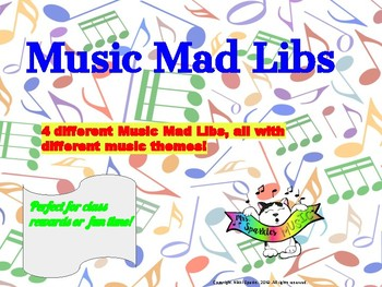 Music Mad Libs