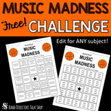 Music Madness Practice BINGO / Band Practice Log FREEBIE