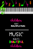 Music Makes Beautiful Children Bulletin Board