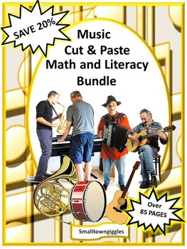 Music, Special Education and Autism Resources, Math and Literacy Bundle
