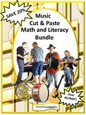 Music Themed Special Education and Autism Resources, ESL Math and Literacy