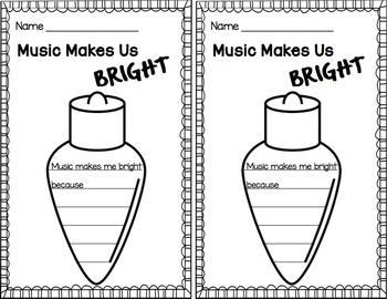 Music Makes Us Bright Advocacy Bulletin Board Kit