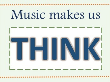 Music Makes Us THINK Printables