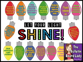 Let Your Light Shine Music Bulletin Board by The Bulletin Board Lady ...