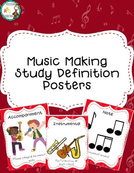 Music Making Study Definition Posters