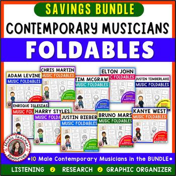 Music: Male Singers: Ten Contemporary Male Musicians Foldables BUNDLE