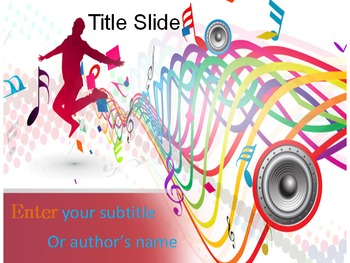 Music Mania Powerpoint Template By Templates Vision Tpt