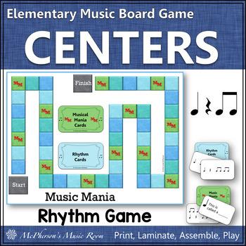 Music Mania Rhythm Edition Eighth Notes {Board Game}